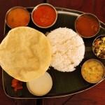 Un Thali, le plat classique de l'inde du sud
